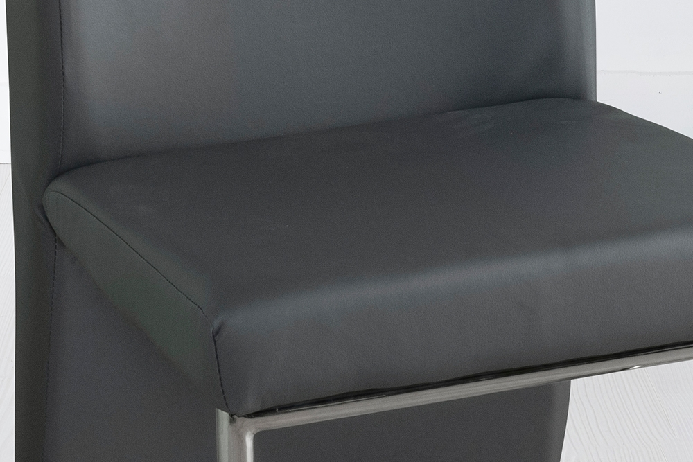 Enzo Grey Faux Leather Dining Chair