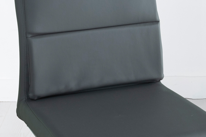 Miami Grey Faux Leather Dining Chair