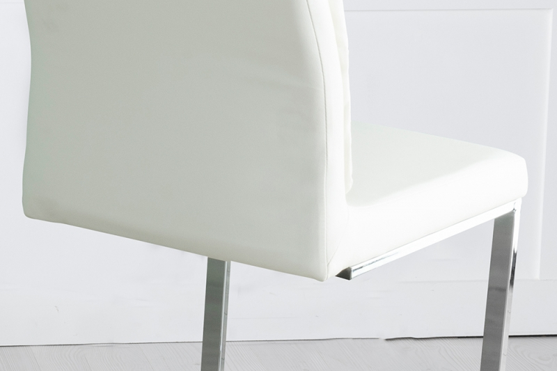 Miami Cream Faux Leather Dining Chair