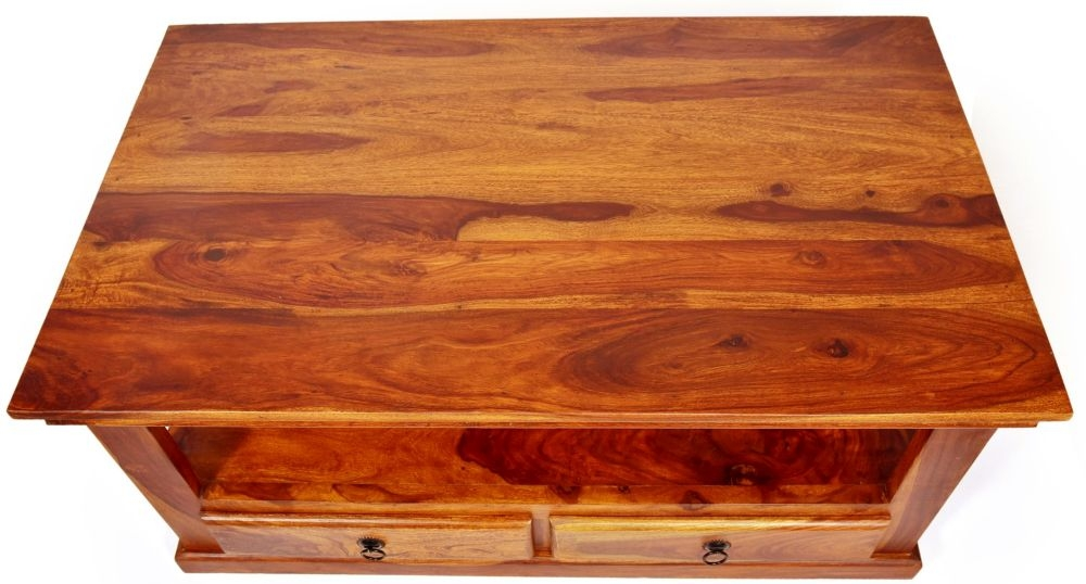Ganga Indian Sheesham Wood 4 Drawer Storage Coffee Table