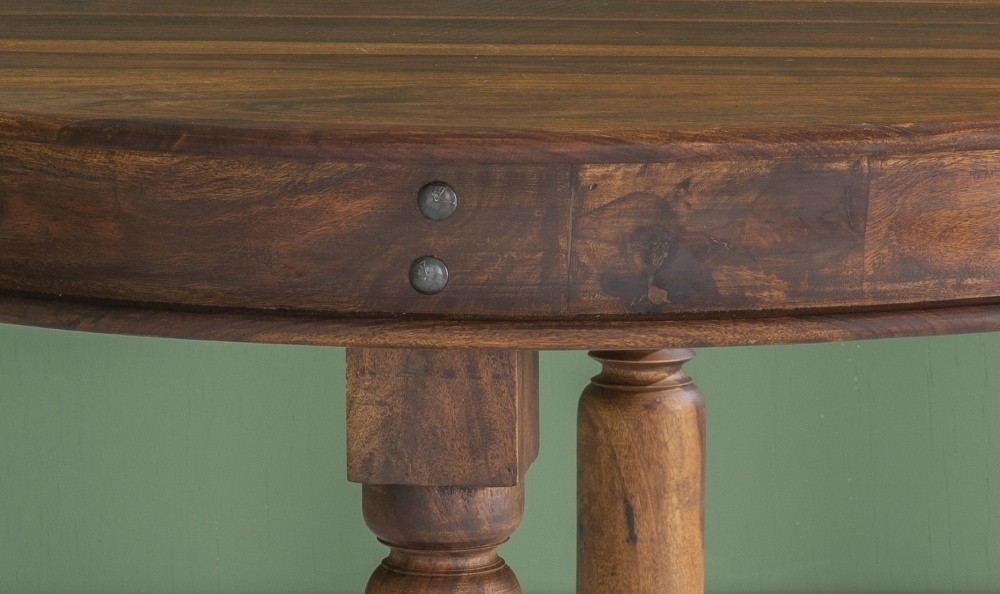 Ganga Indian Sheesham Wood 120cm Round Dining Table