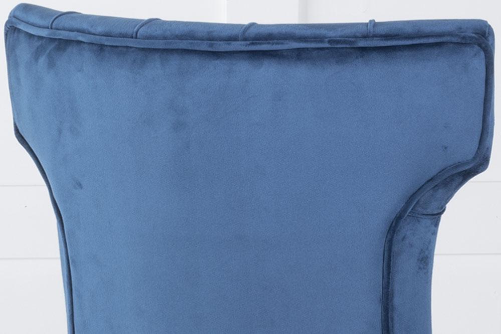 Courtney Blue Velvet Fabric Dining Chair