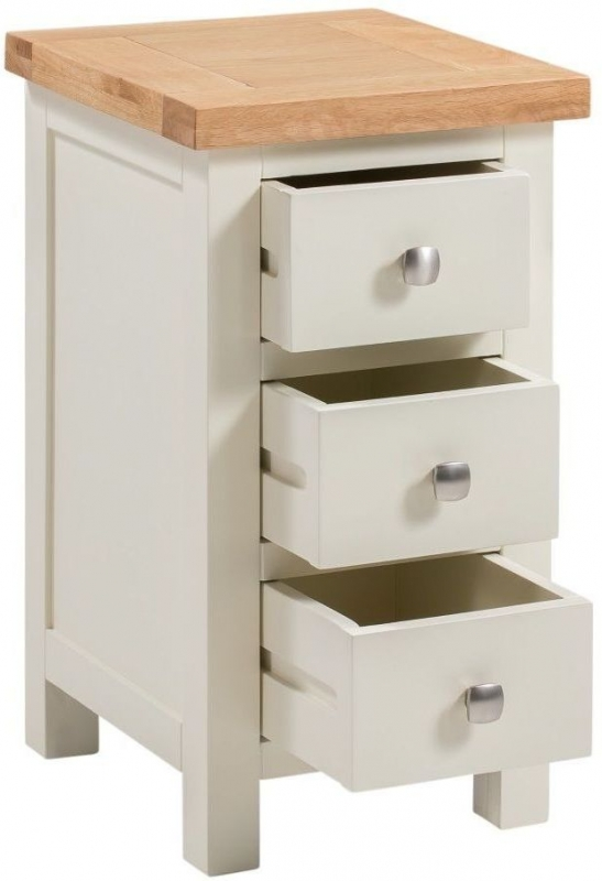 Dorset Ivory Painted Compact Bedside Cabinet