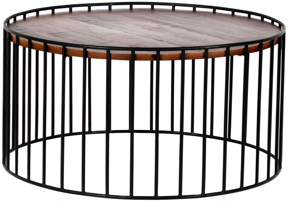 Cage Round Black Metal Coffee Table