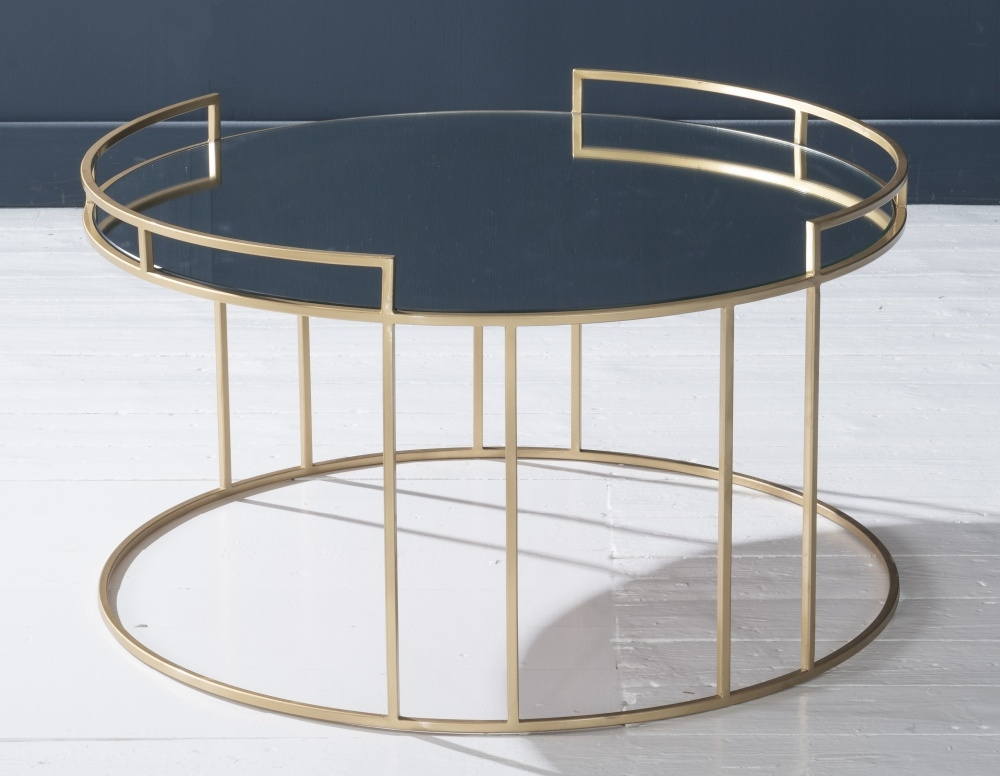 Torrance Gold Mirrored Top Coffee Table