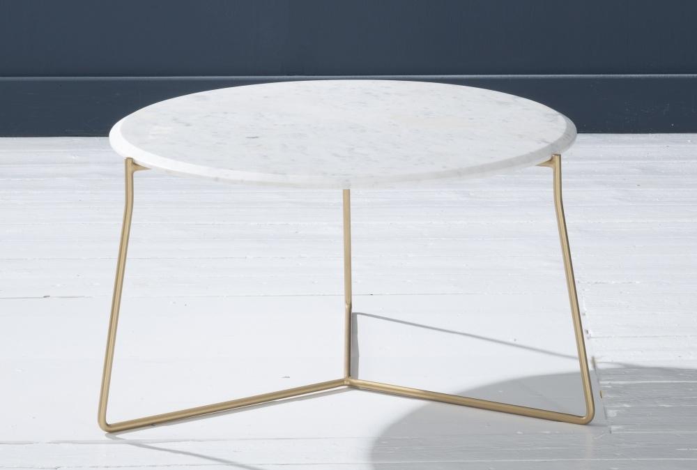 Trio White Marble Round Coffee Table