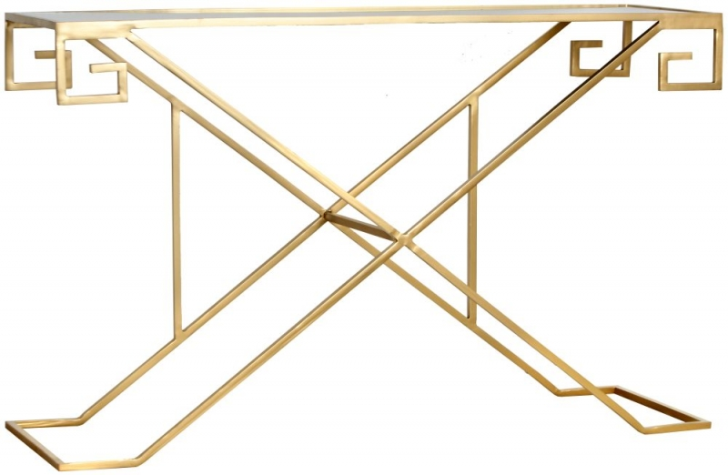 Roma Gold Console Table