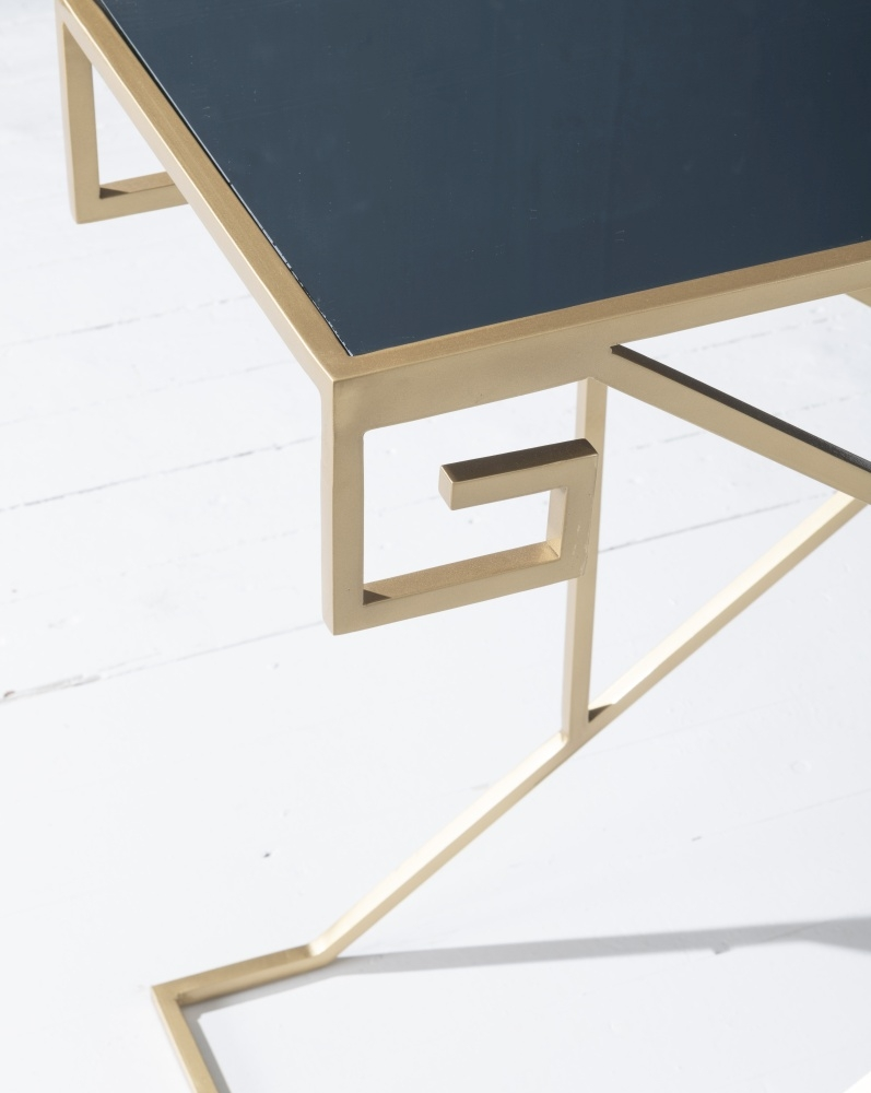 Roma Gold Mirrored Top Coffee Table