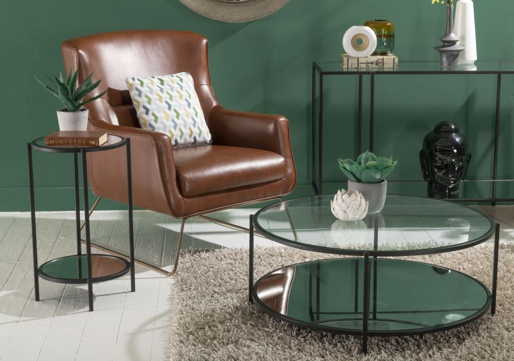 Hyde Round Black Metal Coffee Table