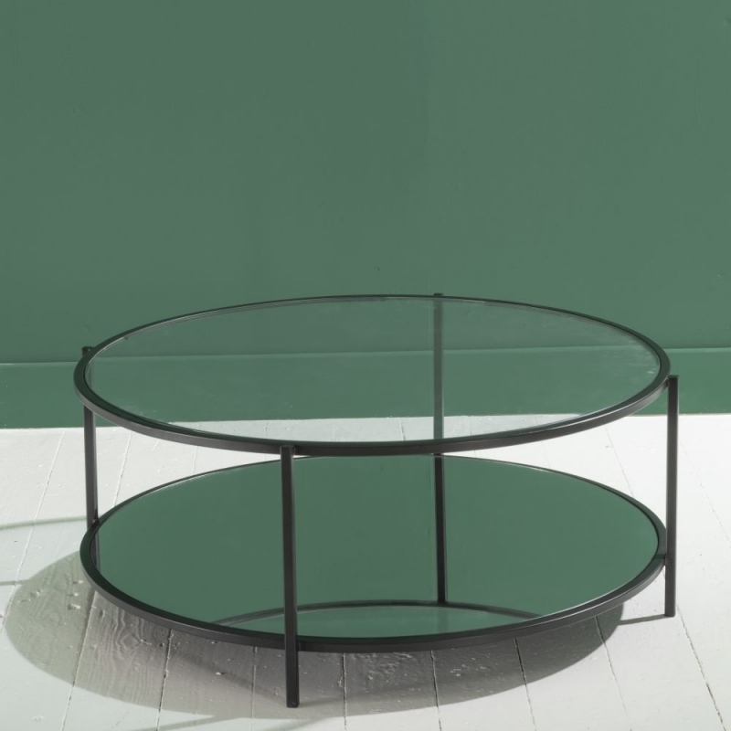 Hyde Round Black Coffee Table