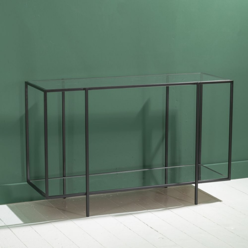 Hyde Black Console Table