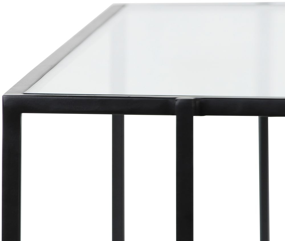 Hyde Square Black Metal Coffee Table