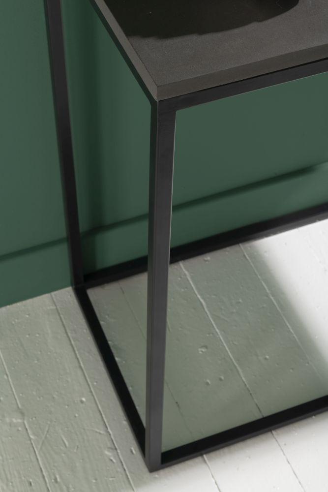 Faux Concrete Rectangular Console Table