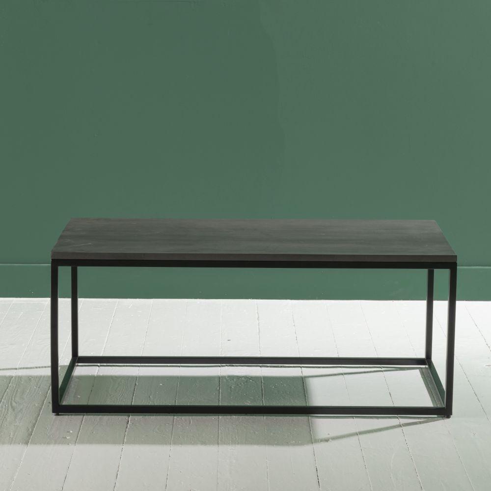 Concreto Black Metal Coffee Table