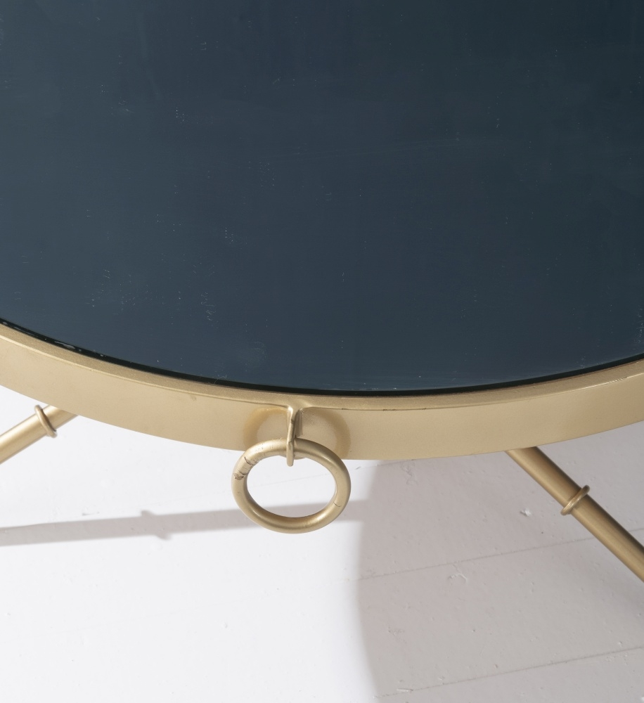 Bari Gold Round Coffee Table
