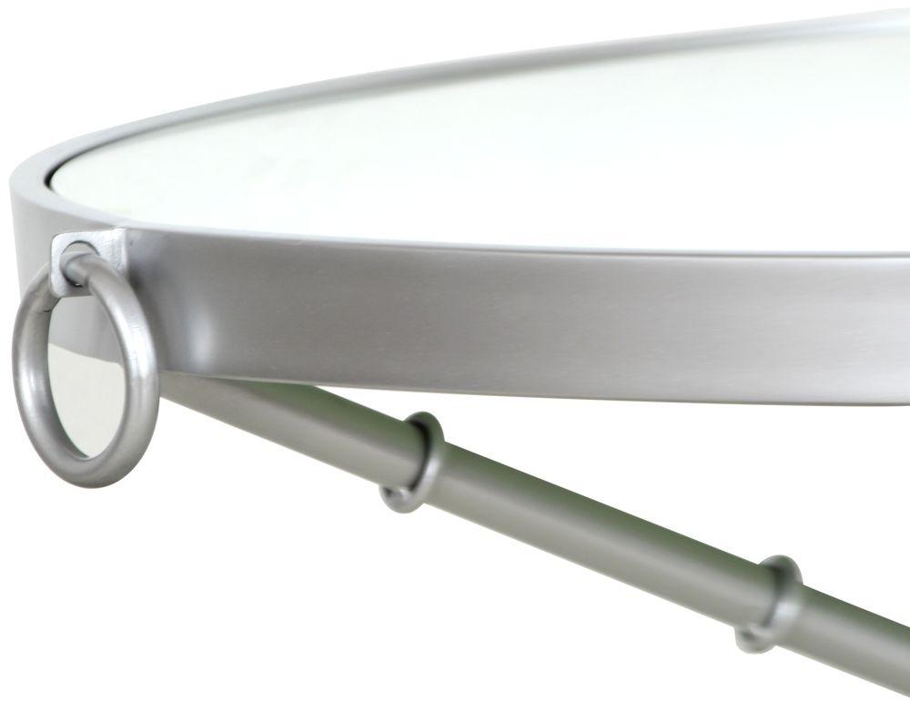 Bari Silver Round Coffee Table
