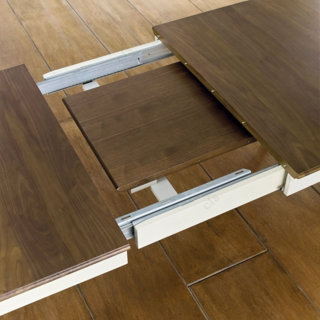 Exceptionnel Bentley Designs Hampstead Soft Grey And Walnut Rectangular Extending Dining  Table   181cm 231cm