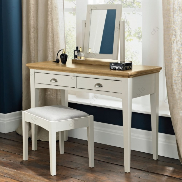 Bentley Designs Hampstead Soft Grey and Oak Dressing Table