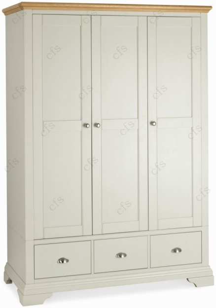 Bentley Designs Hampstead Soft Grey and Oak Bedroom Set