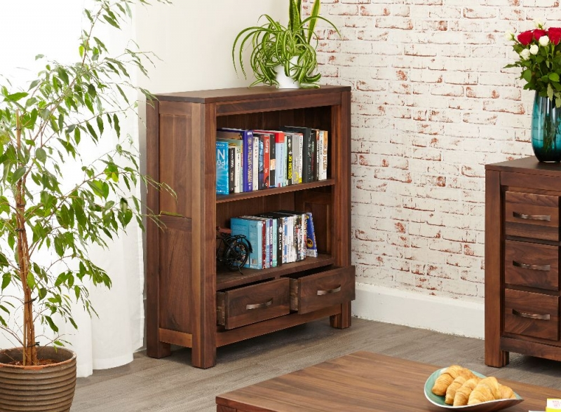 Baumhaus Mayan Walnut Bookcase - Low