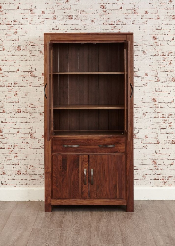 Baumhaus Mayan Walnut Glazed Bookcase - Large