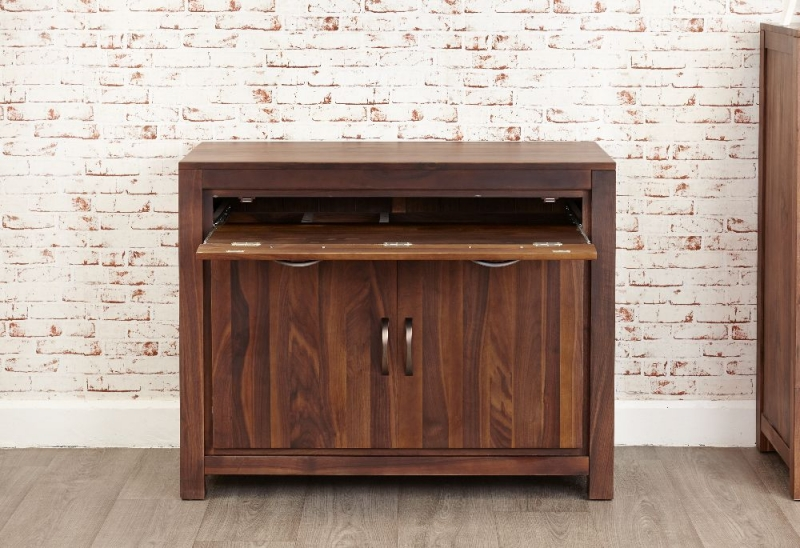 Baumhaus Mayan Walnut Hidden Computer Desk