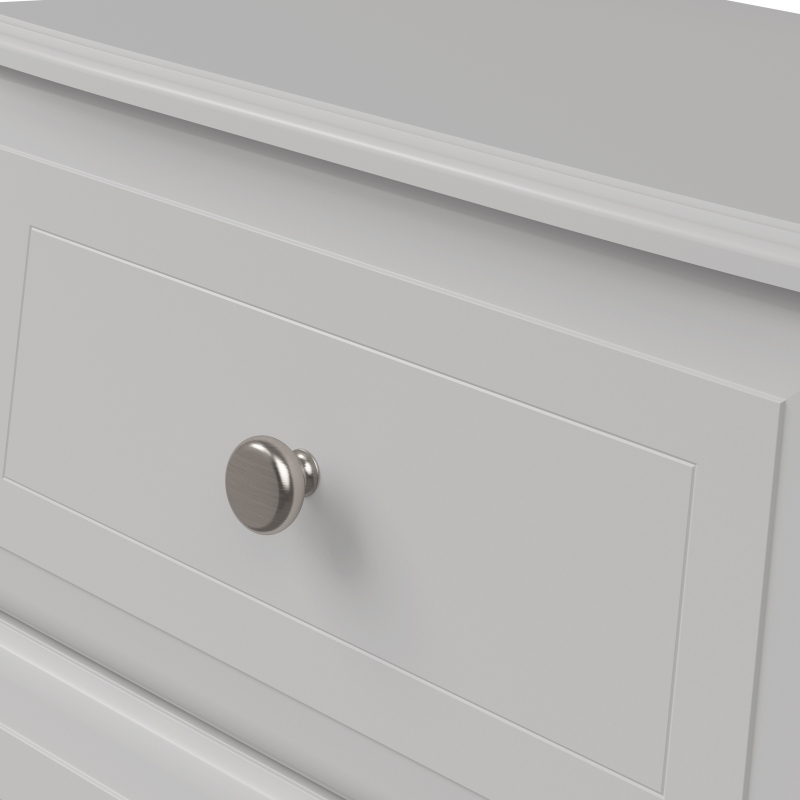 Kingstown Nicole White Chest of Drawer - 3 Drawer Narrow