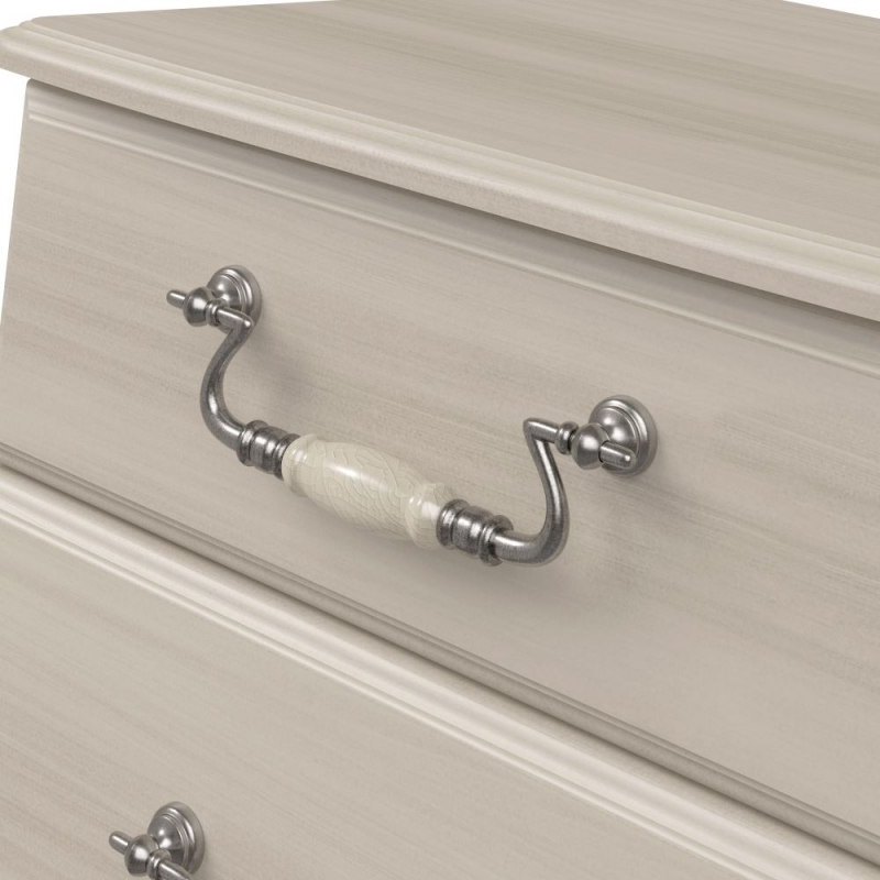 Kingstown Signature Washed Cream Chest of Drawer - 3 Drawer Narrow