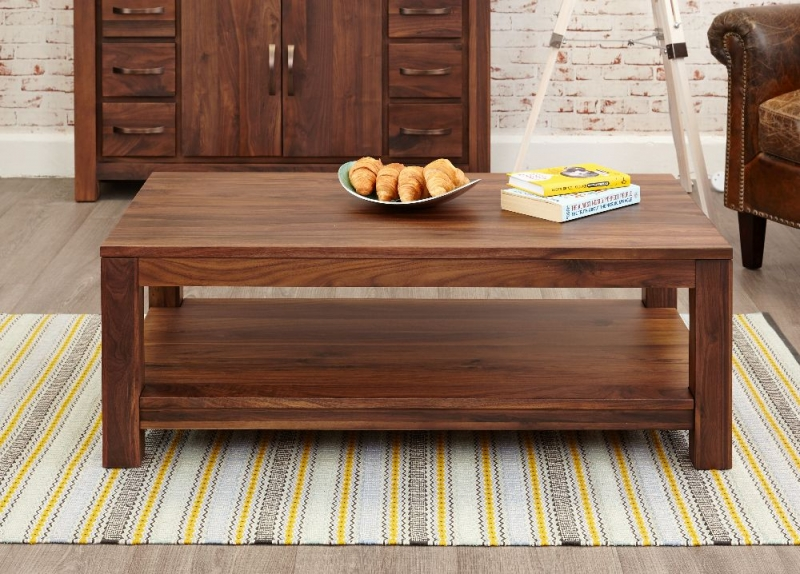 Baumhaus Mayan Walnut Coffee Table - Open