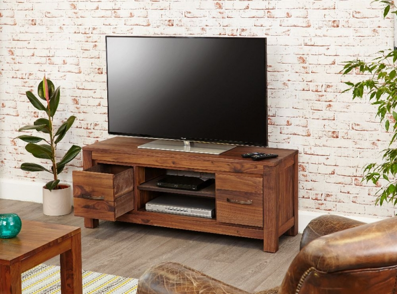 Baumhaus Mayan Walnut TV Unit - Low