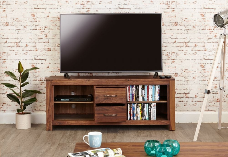 Baumhaus Mayan Walnut TV Unit - Widescreen