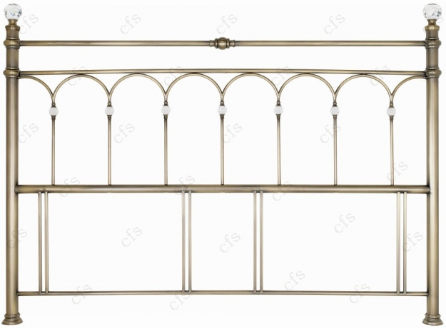 Bentley Designs Krystal Antique Brass Headboard