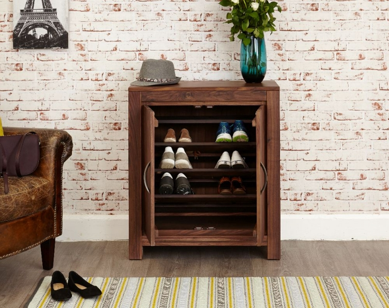 Baumhaus Mayan Walnut Shoe Cupboard