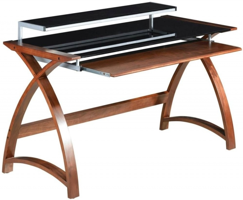 Jual Curve Walnut Computer Desk PC201 1300