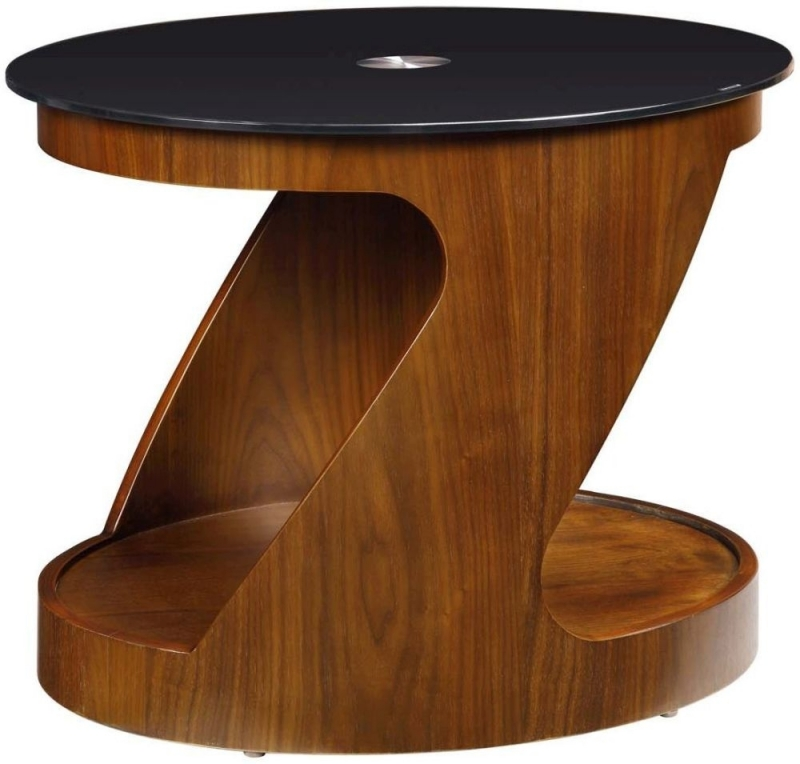 Jual Curve Walnut Lamp Table JF304