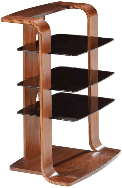 Jual Curve Walnut Entertainment Unit JF204