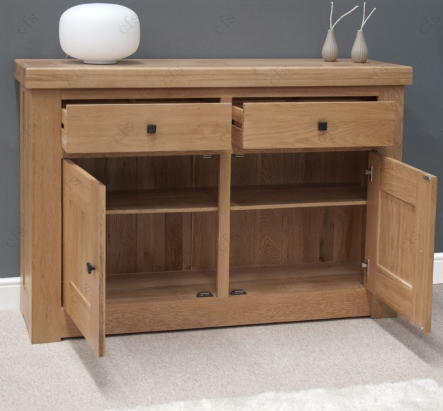 Homestyle GB Bordeaux Oak Sideboard - 2 Door 2 Drawer