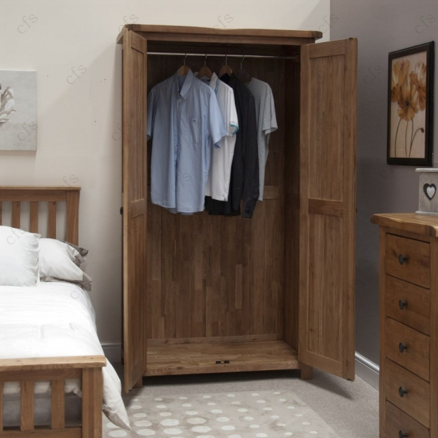 Homestyle GB Rustic Oak Wardrobe