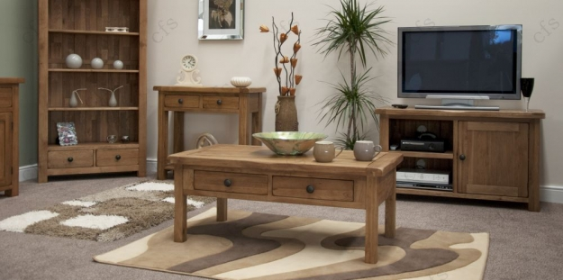 Homestyle GB Rustic Oak Coffee Table