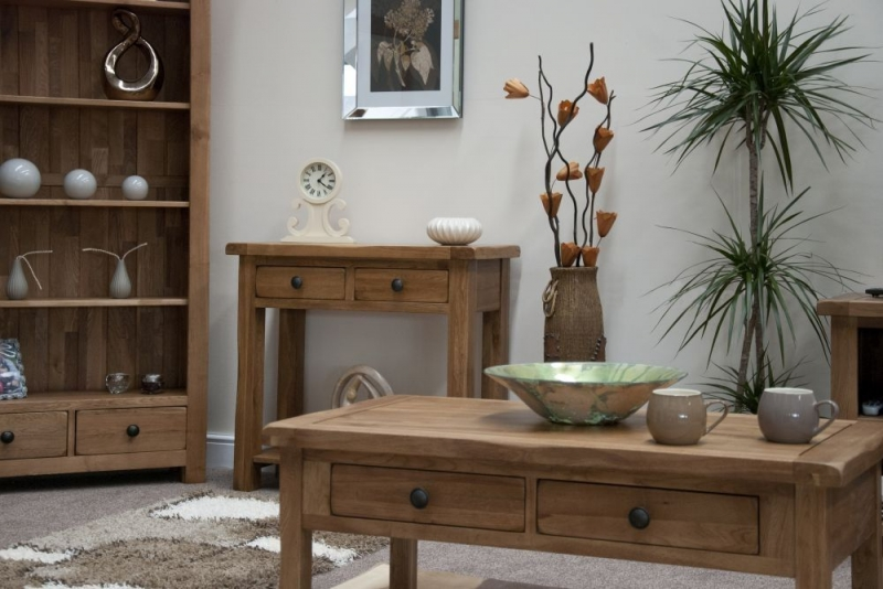 Homestyle GB Rustic Oak Console Table