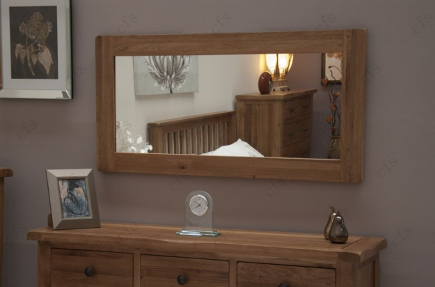 Homestyle GB Rustic Oak Mirror - Large