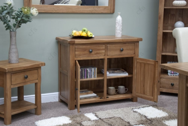 Homestyle GB Rustic Oak Sideboard - Small