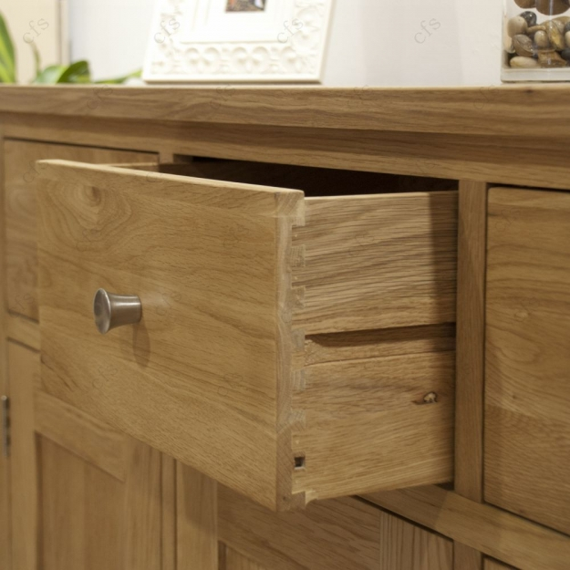 Homestyle GB Torino Oak Chest of Drawer - 2 Over 3 Drawer Wide