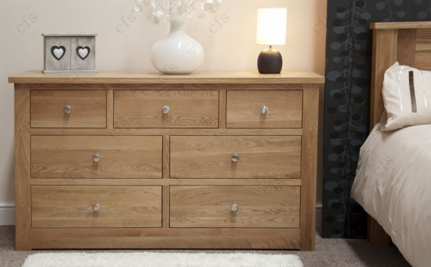 Homestyle GB Torino Oak Chest of Drawer - 7 Drawer