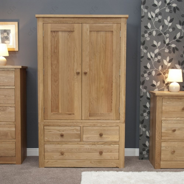 Homestyle GB Torino Oak Wardrobe - Gents