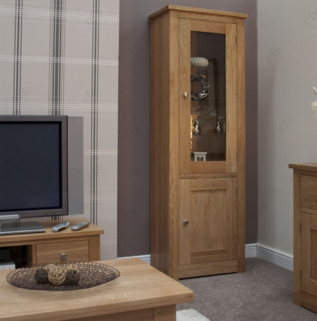 Homestyle GB Torino Oak Display Cabinet - 1 Glass Door
