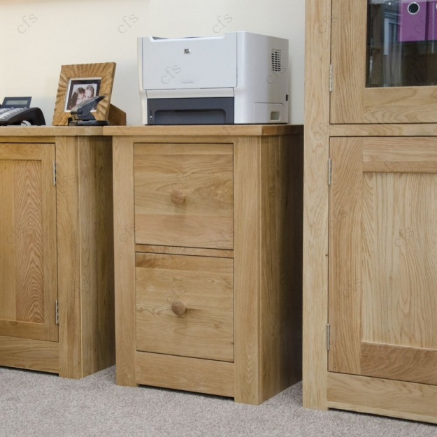 Buy Homestyle Gb Torino Oak Filing Cabinet 2 Drawer Online Cfs Uk