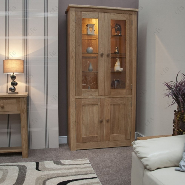 Homestyle GB Torino Oak Library Unit - 4 Door