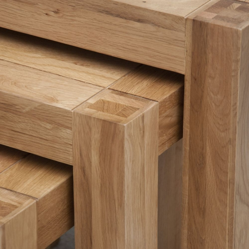 Homestyle GB Trend Oak Nest of Tables