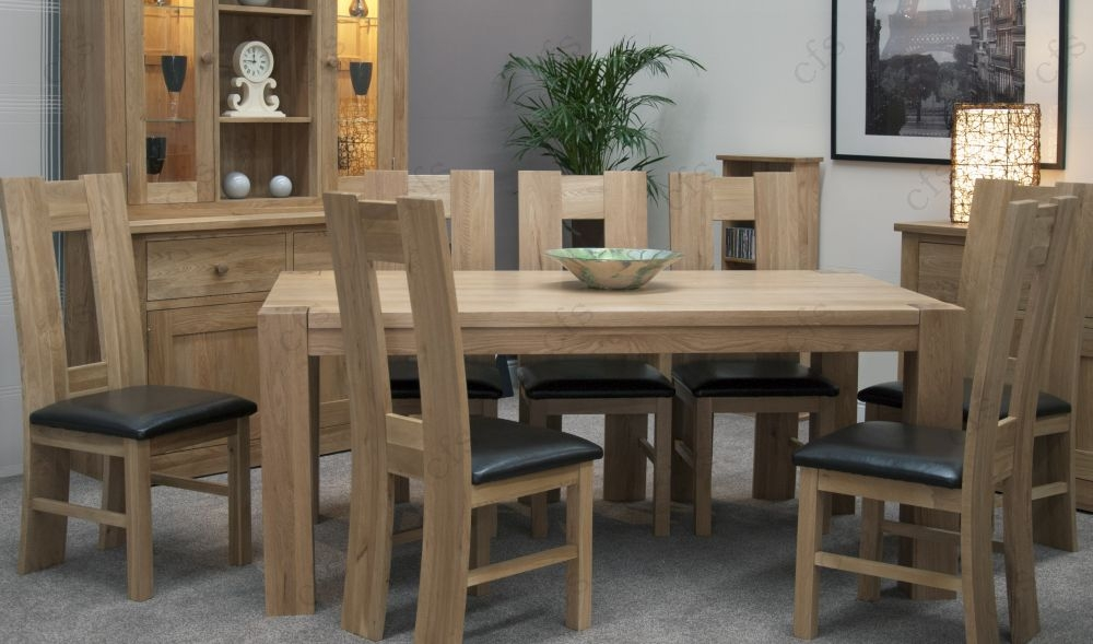 Buy Homestyle GB Trend Oak Dining Set Large With 8 High
